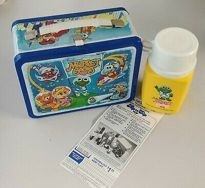 1985 Vintage MUPPET BABIES Metal LUNCH BOX and THERMOS -- Excellent Condition