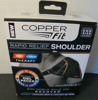 Copper Fit Rapid Relief Shoulder Hot/Cold Therapy Unisex OneSize Adjustable Wrap