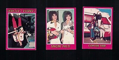 1976  Bay City Rollers Trading Card Lot X 3 Diff Inc Numbers.8,23,57.,