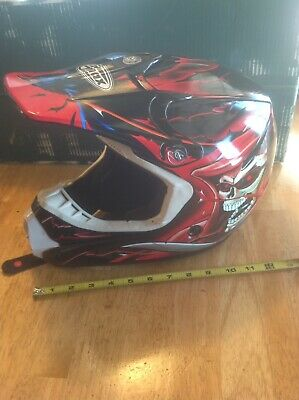 Vintage GMAX Youth Large Helmet Raven Skull Great Graphics Collectible 46XY