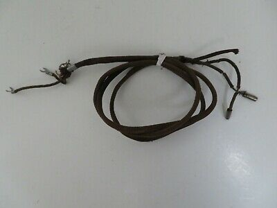 Antique candlestick telephone receiver cord original brown pin & lug
