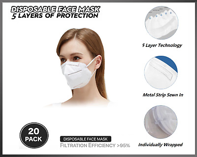 10 pcs KN95 Mask Face Mask Protective Respirator,Disposable Masks