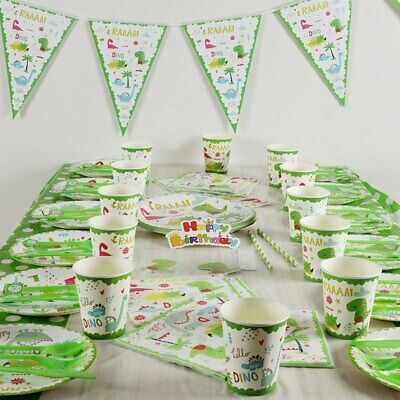 Dinosaur Theme Birthday Party Decoration Tableware Kids Gift Favor Cups Plates