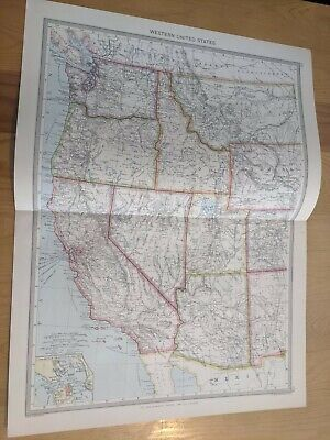 "VINTAGE MAPs need to separate 15.5""x20.75"" WESTERN & CENTRAL AMERICA WEST INDIES"