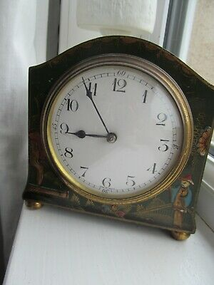 Victorian clock french movement Chinese style decoration  with key working