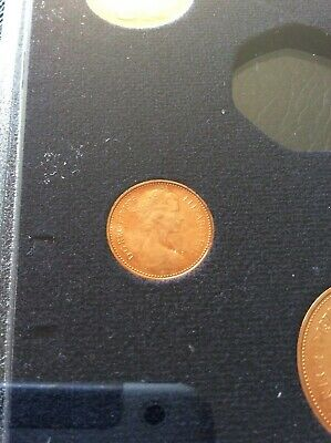 1976 Uncirculated Proof  Half Penny Piece. 1976 1/2P Coin.