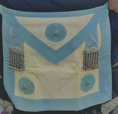Master Masons apron with special metal tassels