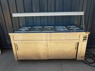 Inomak Wet Well 5Gn Bain Marie Hot Cupboard With Heated Gantry And Sneeze Screen