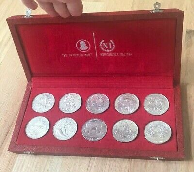 1969 Tunisia 1 One Dinar Proof Set - Original Box