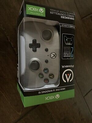 PowerA Enhanced Wired Controller for Microsoft Xbox One - Brushed Aluminum