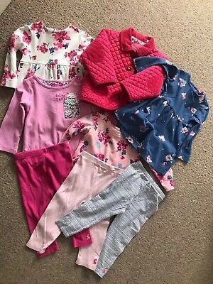 Joules Baby Girl Bundle 9-12 Months - Outfits, Leggings, Jacket And Tops 8 Items