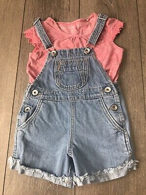 Girls Next Short Dungarees And Next Top Outfit Age 3-4 Years