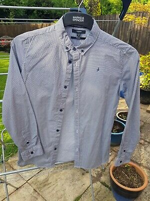 Marks and Spencer's autograph boys blue white shirt age 12 to 13 years