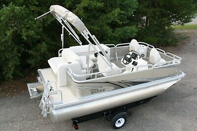 Little pontoon boat sale-New 16 Ft pontoon boat---- 25 hp and trailer