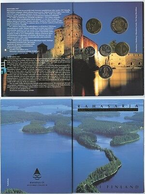 GN917 - Finnland Kursmünzensatz 1997 Original KMS in Folder UNC MINT SET MS#52