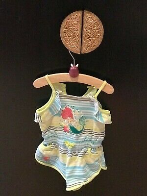 Baby Girls Toddlers Summer Playsuit Ariel  Disney Size 2 Years Excell Cond