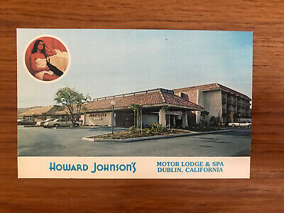 Postcard HOWARD JOHNSON'S MOTOR LODGE & SPA DUBLIN, CALIFORNIA