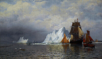 Whaler & Fishing Vessels Labrador Painting by William Bradford Art Reproduction