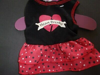 Red Black HEARTYBREAKER Dress S Small Puppy Dog new Pet Spirit