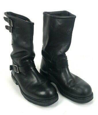 Harley Davidson Men's Black Leather Engineer Boots Riding Motorcycle Size 12