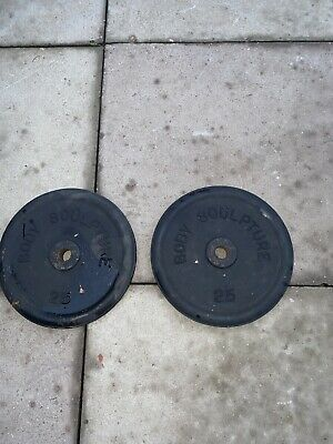 weight plates 22kg Cast Iron 25lb
