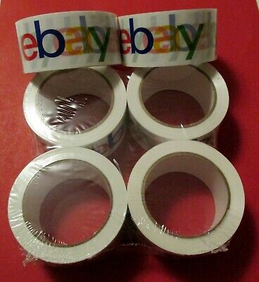 "2"" x 75 yards Classic Official eBay Branded Packaging Shipping Tape 6 Rolls"