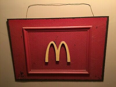 """Vintage McDonald's Golden Arch Sign 24""""high x 35""""wide (from Waynesville N.C.)"""