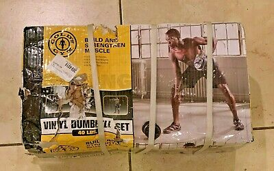 GOLDS GYM 40LB Vinyl Dumbbell Set Adjustable Weights *IN HAND* FREE SHIPPING!!