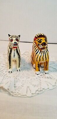 VTG. Mexican Paper Mache Animals set of 2
