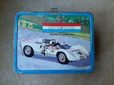 Vintage 1967 Auto Race Lunch Box NO Thermos By King-Seeley (Thermos) Antique!!!