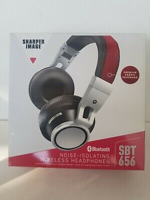 New Sharper Image SBT 656 Bluetooth Wireless Noise Isolating Fabric Headphones