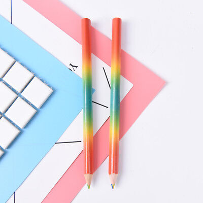 2x Rainbow Color Pencil 4 in 1 Colored Drawing Painting Pencils Pen School Ki MW
