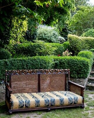 Stunning Carved Oak Antique Bergere Sofa 3 Seater. - c.1900 Suite