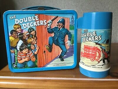 Vintage The Double Deckers Lunchbox And Thermos