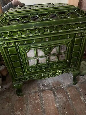 Victorian Cast Iron Stove Green