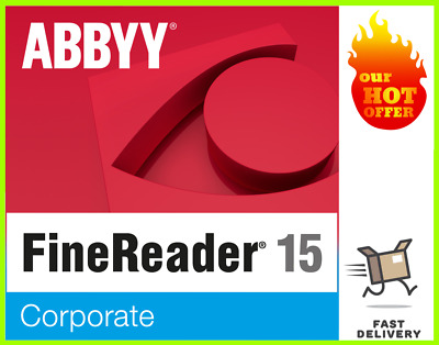 ABBYY Fine Reader Corporate 15 Full Version For Windows ✅ Instant Delivery 📩