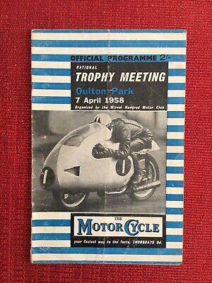 Rare Oulton Park National Trophy Meeting Programme, 7/4/1958