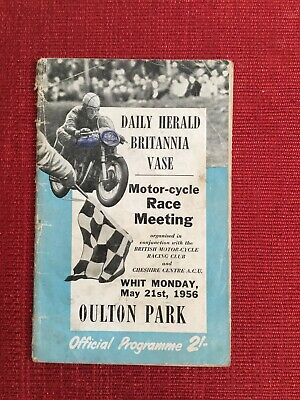 1956 Daily Herald Britania Vase Motor Cycle Meeting Oulton Park Programme
