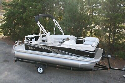 Little pontoon boat sale-New 18 Ft pontoon boat---- 25 hp and trailer
