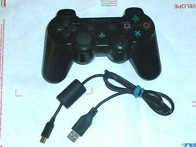 Sony PlayStation 3 PS3 Dualshock 3 Sixaxis Wireless Controller Black Original