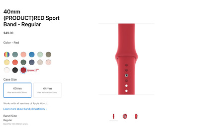 Apple 40mm (PRODUCT)RED Sport Band - Regular Free Shipping