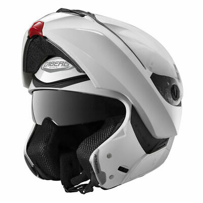 Caberg Modus Flip Front Motorcycle Touring Helmet Metal White - Ex Display (A)