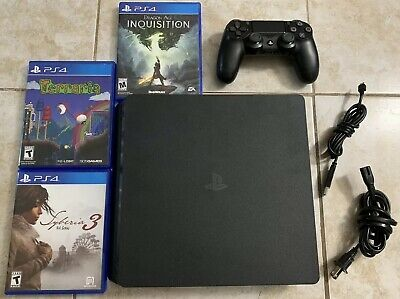Sony Playstation 4 PS4 Slim 500gb Console CUH-2215A Dragon Terraria Controller
