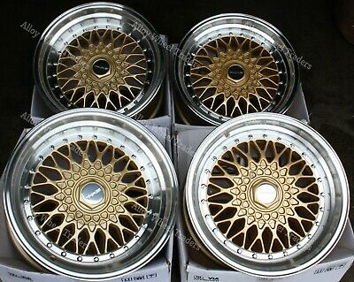 "Alloy Wheels 15"" RS For Porsche 924 4x108 Models only Gold"