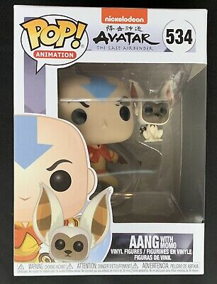 Funko POP! Animation Avatar The Last Airbender - Aang w/ Momo #534 New
