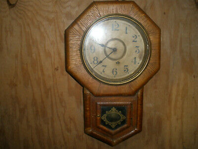 Vintage Ansonia Drop Octagon (Schoolhouse) Clock