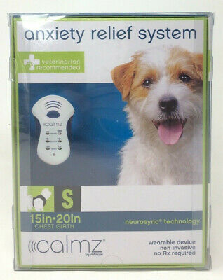 """Calmz Anxiety Relief System for Dogs Small 15""""-20"""" Chest Wearable Device"""