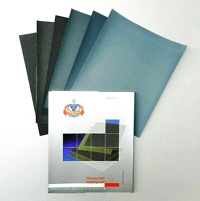 Sanding Sheets Wet/Dry Silicon Carbide Waterproof Sandpaper 80 to 7000Grits 9x11