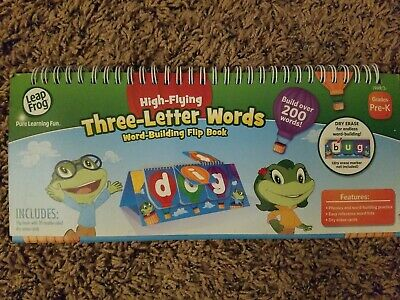 Leap Frog High Flying Three Letter Words Word Building Flip Book