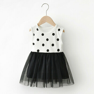 Summer Toddler Infant Kids Girls Baby Dot Tulle Princess Dress Outfits Clothes